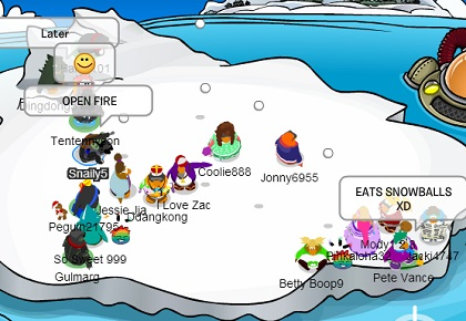 RPF Opens fire on a famous penguin at the berg and his harem.  XD